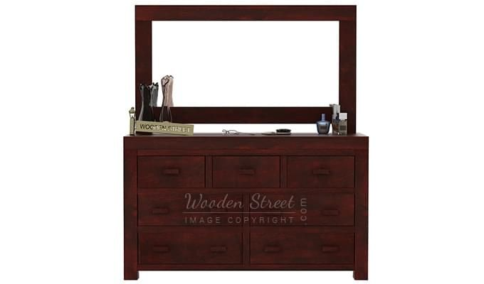 Laura Dressing Table (Mahogany Finish)-4
