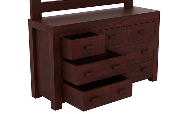 Laura Dressing Table (Mahogany Finish)-5