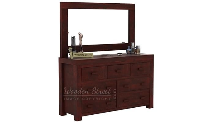 Laura Dressing Table (Mahogany Finish)-6