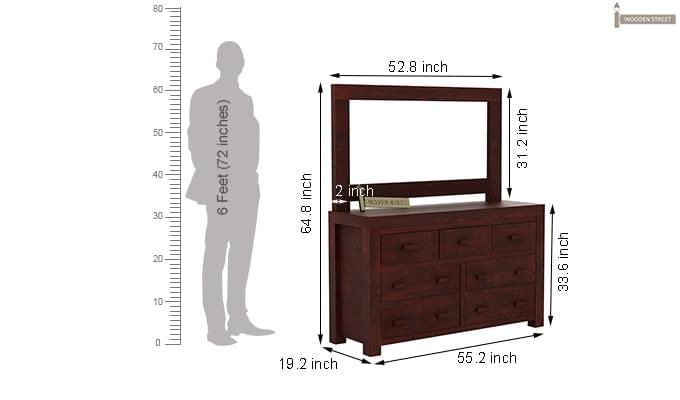 Laura Dressing Table (Mahogany Finish)-7