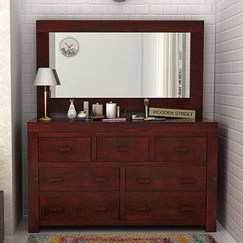 Laura Spacious wooden dressing table with 7 pullout drawers