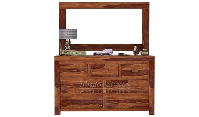 Laura Dressing Table (Teak Finish)-4