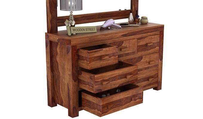 Laura Dressing Table (Teak Finish)-6