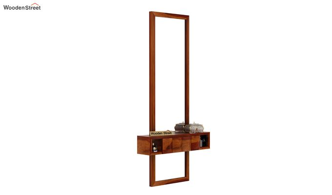 Morse Wall Mounted Dressing Table (Honey Finish)-1