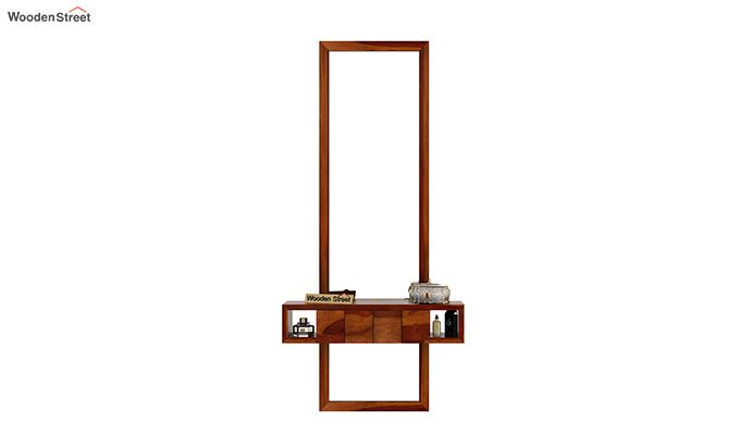 Morse Wall Mounted Dressing Table (Honey Finish)-2
