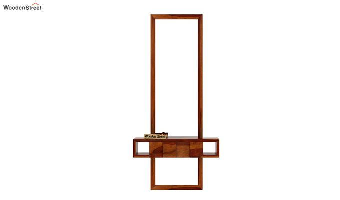 Morse Wall Mounted Dressing Table (Honey Finish)-4