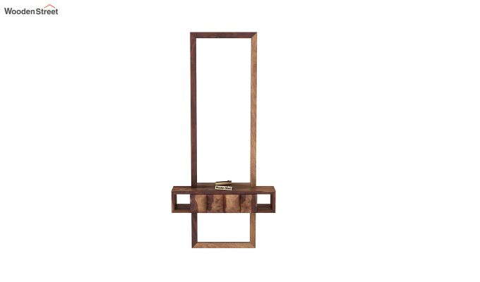 Buy Morse Wall Mounted Dressing Table Teak Finish Online