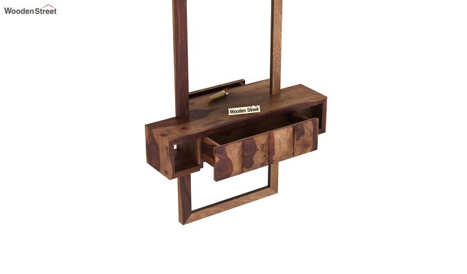 Morse Wall Mounted Dressing Table (Teak Finish)-5