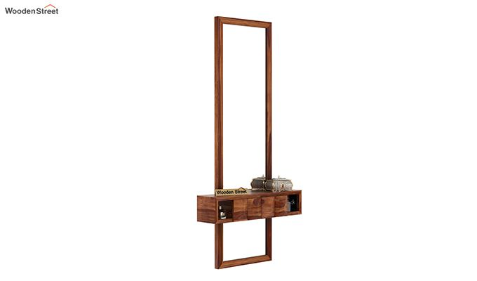 Morse Wall Mounted Dressing Table (Teak Finish)-2