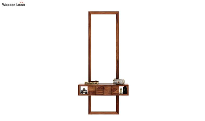 Morse Wall Mounted Dressing Table (Teak Finish)-3