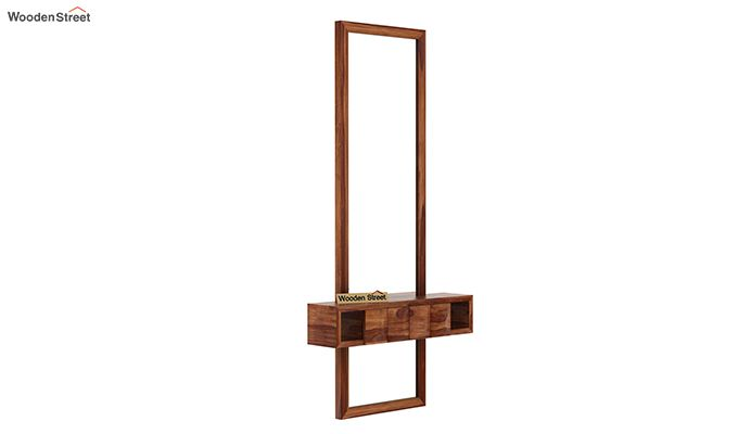 Morse Wall Mounted Dressing Table (Teak Finish)-4