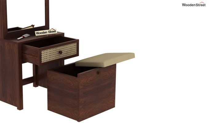Palm Dressing Table (Walnut Finish)-7