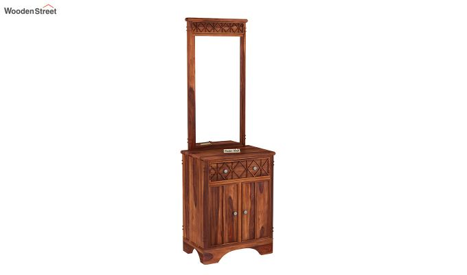 Swirl Dressing Table (Honey Finish)-2