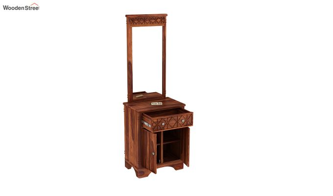 Swirl Dressing Table (Honey Finish)-4