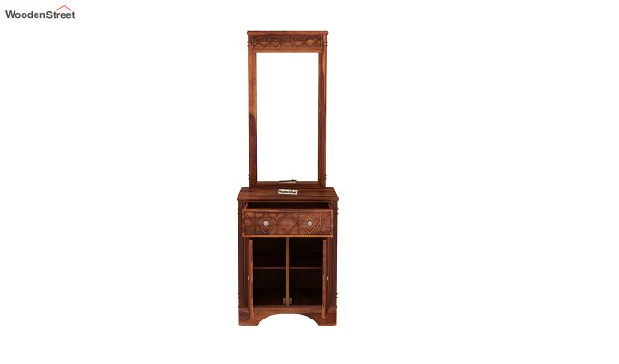 Swirl Dressing Table (Honey Finish)-5