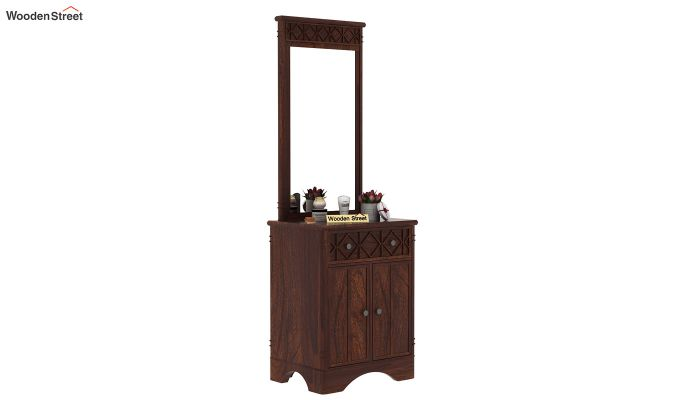 Swirl Dressing Table (Walnut Finish)-2