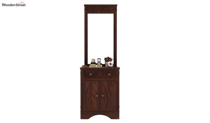 Swirl Dressing Table (Walnut Finish)-3