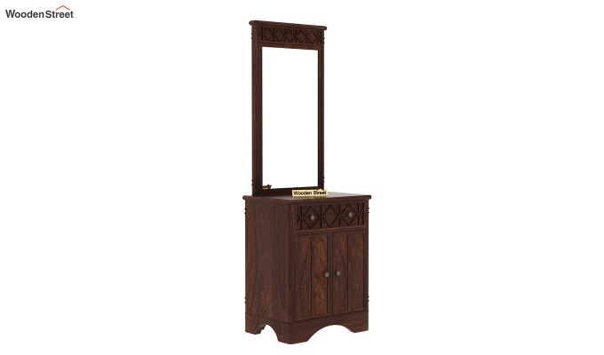 Swirl Dressing Table (Walnut Finish)-4
