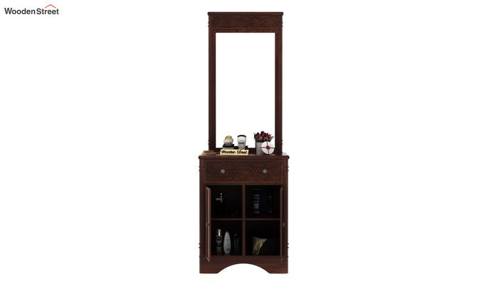 Swirl Dressing Table (Walnut Finish)-5