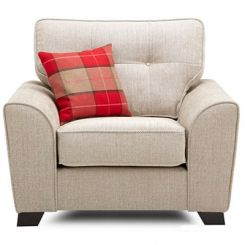 Archerd 1 Seater Fabric Sofa (Ivory)