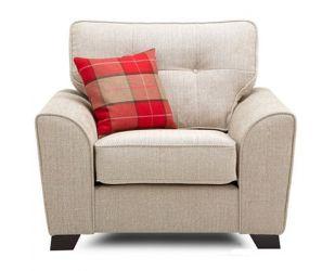 Archerd 1 Seater Fabric Sofa (Ivory)