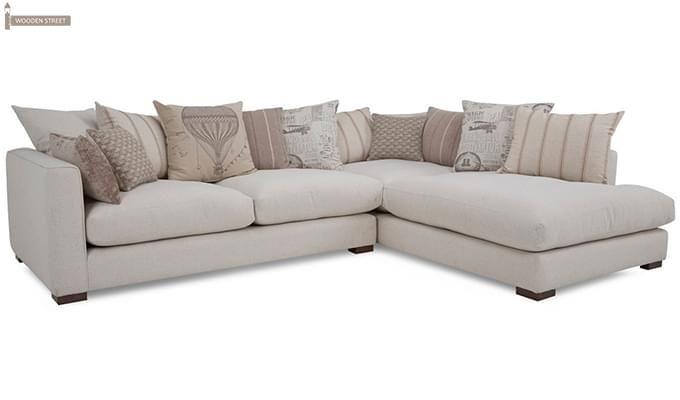 Adler L Shape Sofa (White)-2