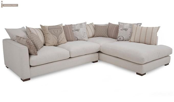 Adler L Shape Sofa (White)-3