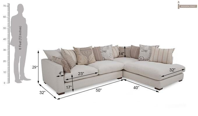 Adler L Shape Sofa (White)-6
