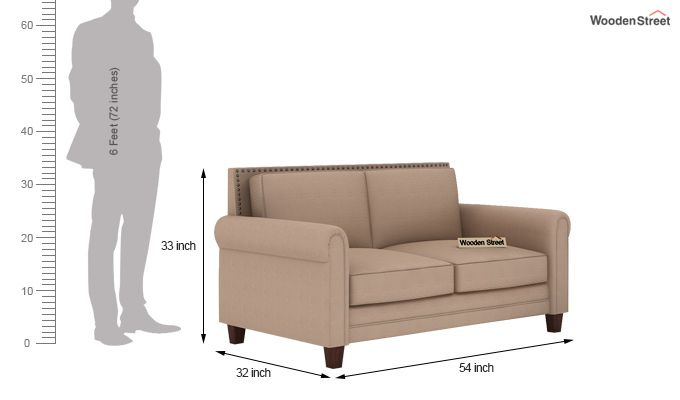 Aldean 2 Seater Fabric Sofa (Irish Cream)-8