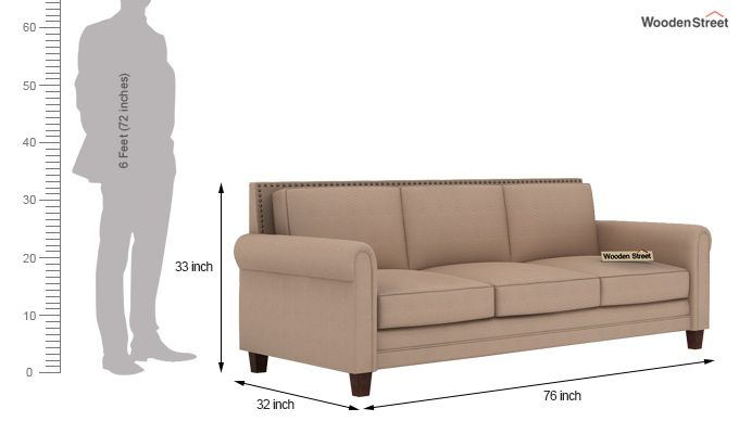 Aldean 2 Seater Fabric Sofa (Irish Cream)-9