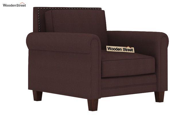 Aldean 1 Seater Fabric Sofa (Classic Brown)-1