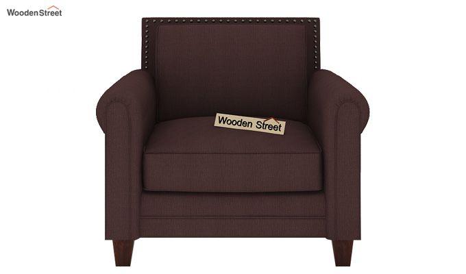Aldean 1 Seater Fabric Sofa (Classic Brown)-2