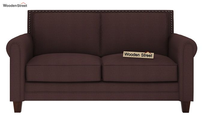 Aldean 2 Seater Fabric Sofa (Classic Brown)-2