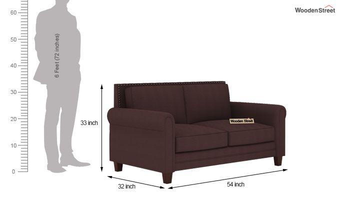 Aldean 2 Seater Fabric Sofa (Classic Brown)-3