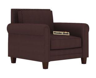 Aldean 1 Seater Fabric Sofa (Classic Brown)