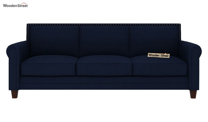 Aldean 3 Seater Fabric Sofa (Indigo Ink)-3