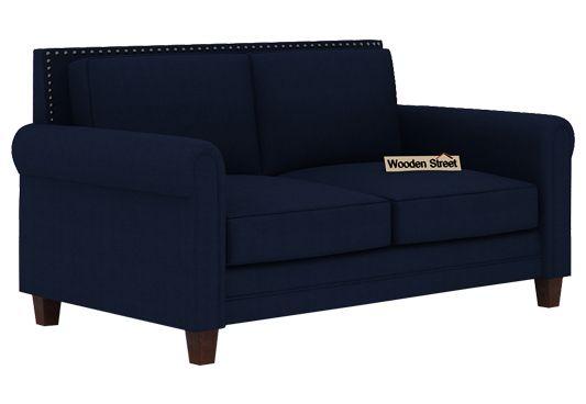 Aldean 2 Seater Fabric Sofa (Indigo Ink)