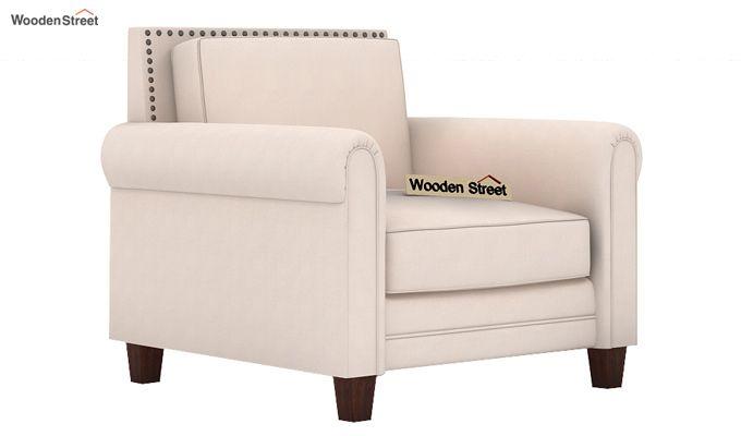 Aldean 1 Seater Fabric Sofa (Ivory Nude)-1