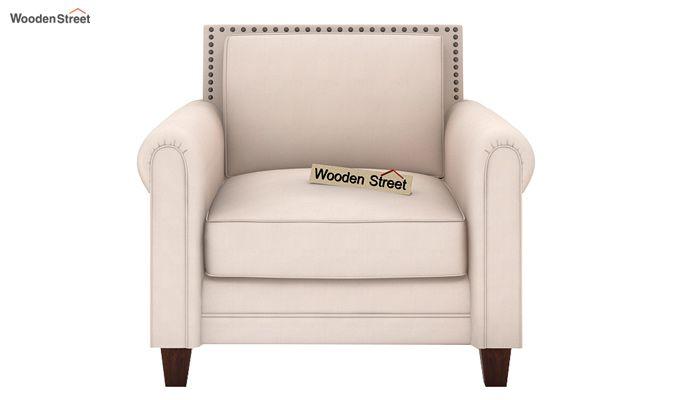 Aldean 1 Seater Fabric Sofa (Ivory Nude)-2