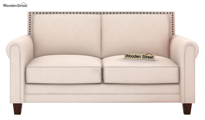 Aldean 2 Seater Fabric Sofa (Ivory Nude)-2
