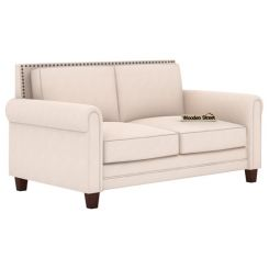Aldean 2 Seater Fabric Sofa (Ivory Nude)