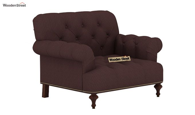 Allison 3+1+1 Fabric Sofa Set  (Classic Brown)-4