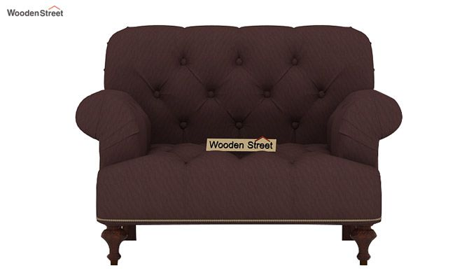 Allison 3+1+1 Fabric Sofa Set  (Classic Brown)-5