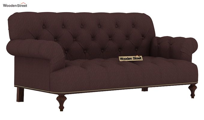 Allison 3+2 Fabric Sofa Set  (Classic Brown)-4