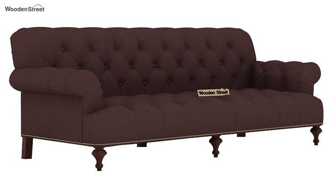 Allison 3 Seater Sofa (Fabric, Classic Brown)-2
