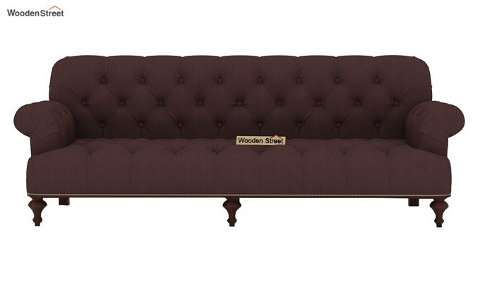 Allison 3 Seater Sofa (Fabric, Classic Brown)-3