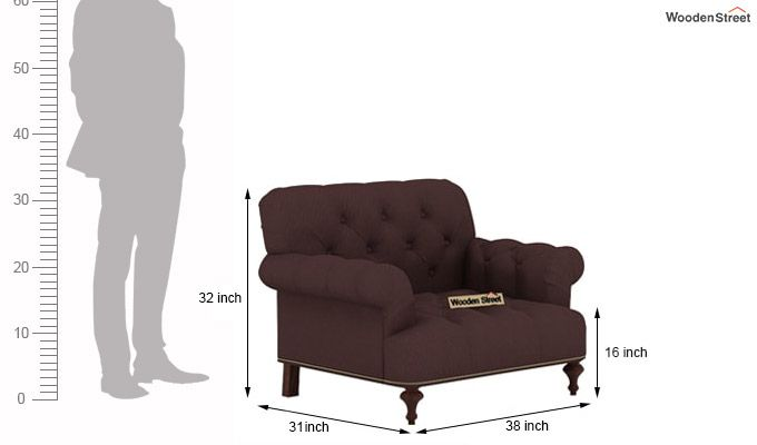 Allison 3+1+1 Fabric Sofa Set  (Classic Brown)-7
