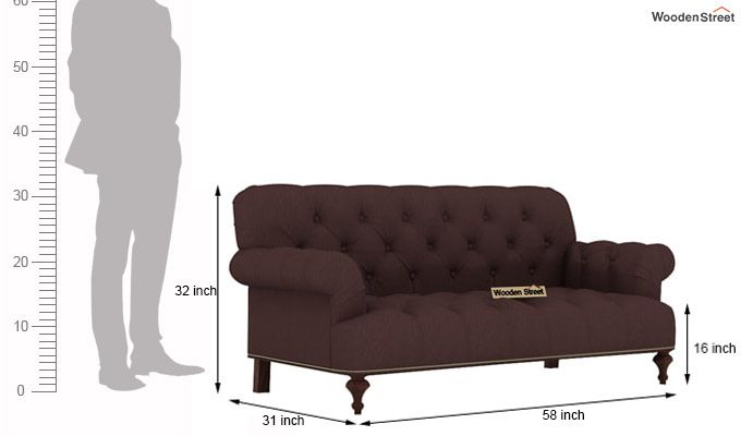 Allison 3+2 Fabric Sofa Set  (Classic Brown)-7