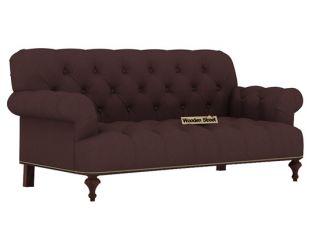 Allison 2 Seater Sofa (Fabric, Classic Brown)