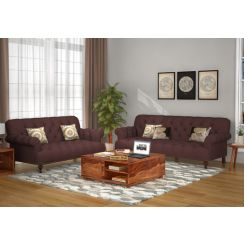 Allison 3+2 Fabric Sofa Set  (Classic Brown)